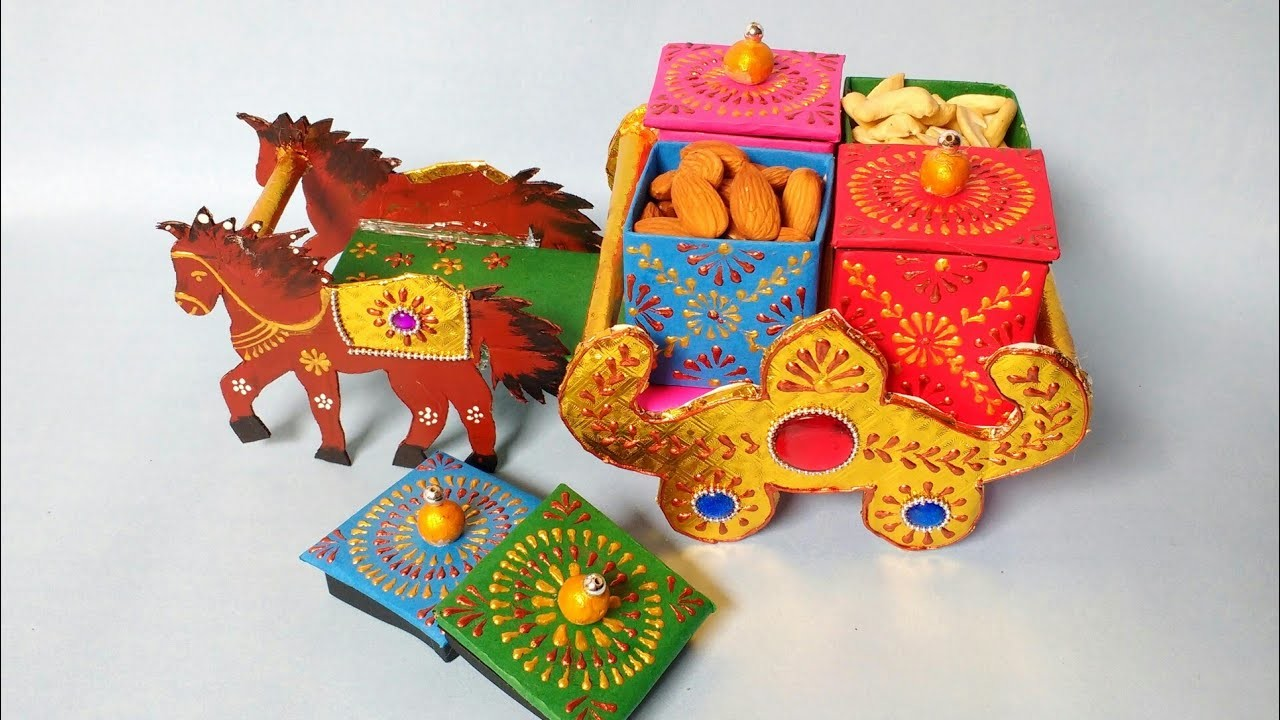 Dry Fruits Container   Best Out Of Waste   Cardboard Craft   DIY   Craft   By Punekar Sneha