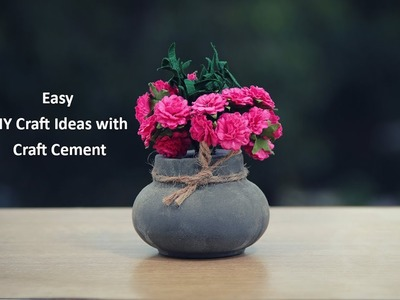 Easy DIY Craft Ideas with Craft Cement