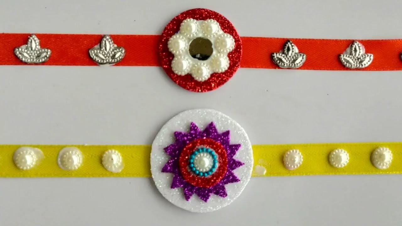 Easy Rakhi Craft Making At Home Beautiful Simple Rakhi Craft For