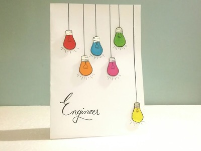 Engineer : DIY Engineers Day Card | Easy card ideas | Art, Craft and Health