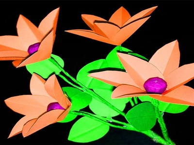 FlowerUPC | How to Make  Paper flowers | Paper Flower Making | DIY Paper Flowers Tutorial