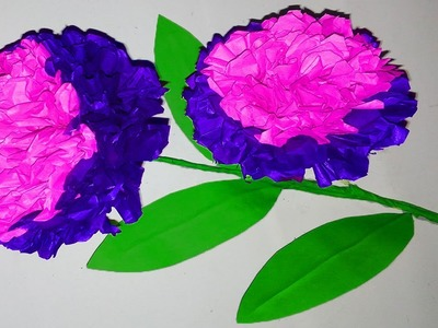 FlowerUPC | How to Make  Paper flowers | paper flower origami | flower stick craft