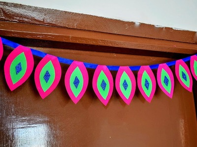 Front Door Decor ideas with Paper | Wall hanging craft making at home