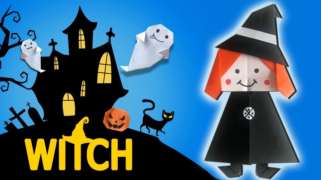 HALLOWEEN (2018) WITCH Paper Craft ???? Easy DIY Paper Crafts ???? [4K]