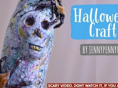 Halloween crafts|Bottle decoration ideas|DIY Halloween decoration ideas| |spooky Halloween|craft