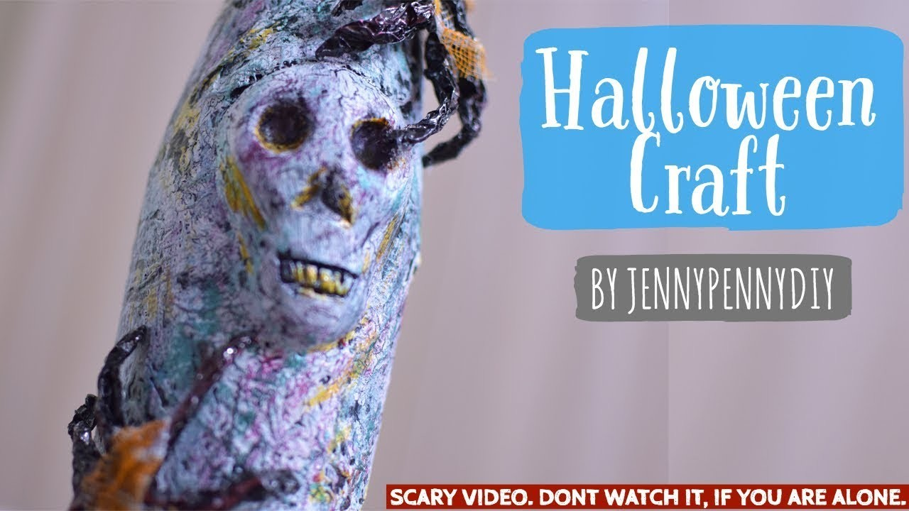 Halloween crafts Bottle decoration ideas DIY Halloween decoration ideas   spooky Halloween craft