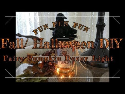 Halloween.Fall. Craft. DIY. Fairy Pumpkin  Jar  Night Light
