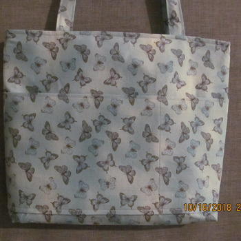 Hand made  Butterfly  tote bad