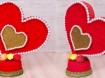 Heart Shaped Home Decor Showpiece Making || DIY Home Decor Craft || Handmade Craft Ideas