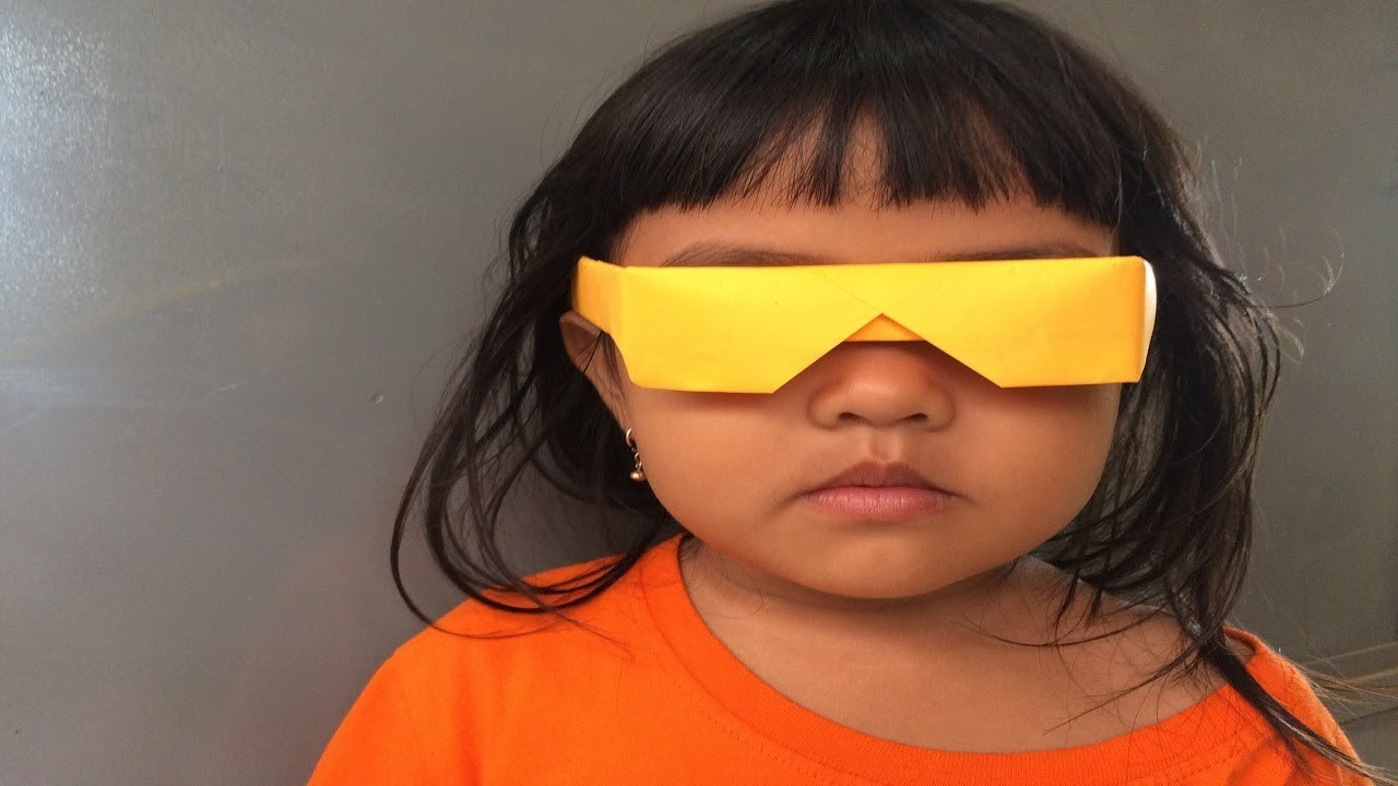 How to make a paper sunglasses | Paper Sunglasses Easy Origami Craft | How to make a glasses for kid
