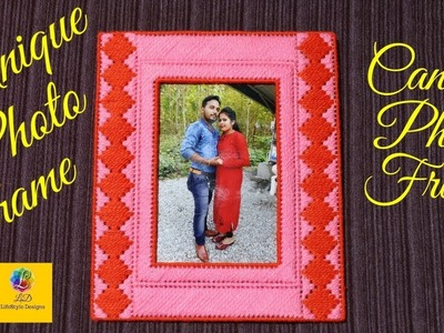 How to make a woolen photo frame best out of waste craft idea