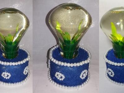 How to Make Aquarium || old bulb craft idea ||reuse craft ideas ||dustu pakhe