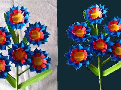 Origami how to make beautiful paper craft flower stick handcraft how to make beautiful paper craft flower stick handcraft mightylinksfo