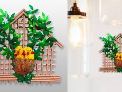 How to make bird nest craft with empty plastic bottle   DIY   Easy crafts Ideas   Taniscreativity