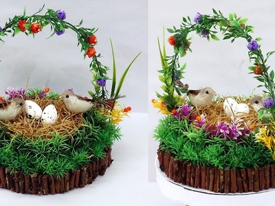 How to Make Birds Nest Basket Craft for Home Decoration | DIY Birds Nest Home Décor | StylEnrich
