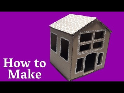 How to Make Cardboard House | DIY Beautiful Cardboard House | Cardboard Craft idea