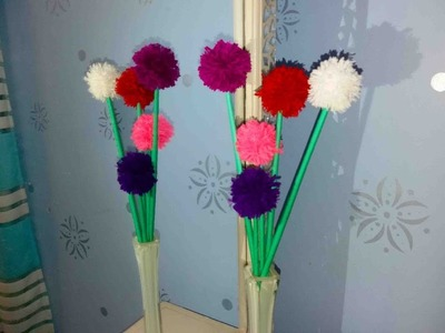 How to make easy & decorative woolen flowers || DIY Woolen craft || Room Decor || Art Of Learning ||