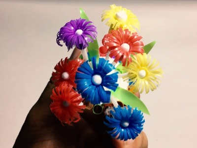 How To Make Flower From Drinking Straw - Craft tutorial #1