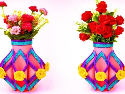 How to Make Flower Vase Out of Paper_ DIY Simple Paper Craft _ Awesome Flower Vase Make with Paper