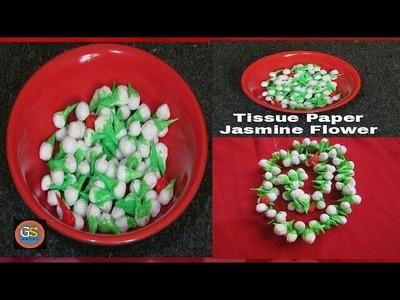 How To Make Jasmine Buds || Tissue Paper Craft Ideas || #Girishshanku