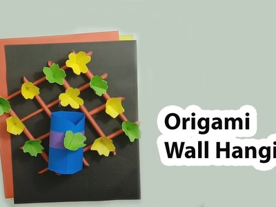 How to Make Paper Craft Wall Hanging | Craft Ideas With Paper | Origami - Paper Flowers Wall Hanging
