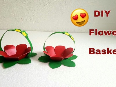 How to Make Paper Flower Basket. Easy DIY Craft With Paper