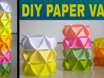 How to make paper vase at home || paper flower vase craft || Diy paper vase || 2