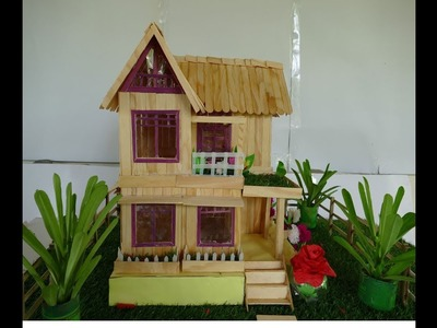How to make Popsicle stick house DIY CRAFT