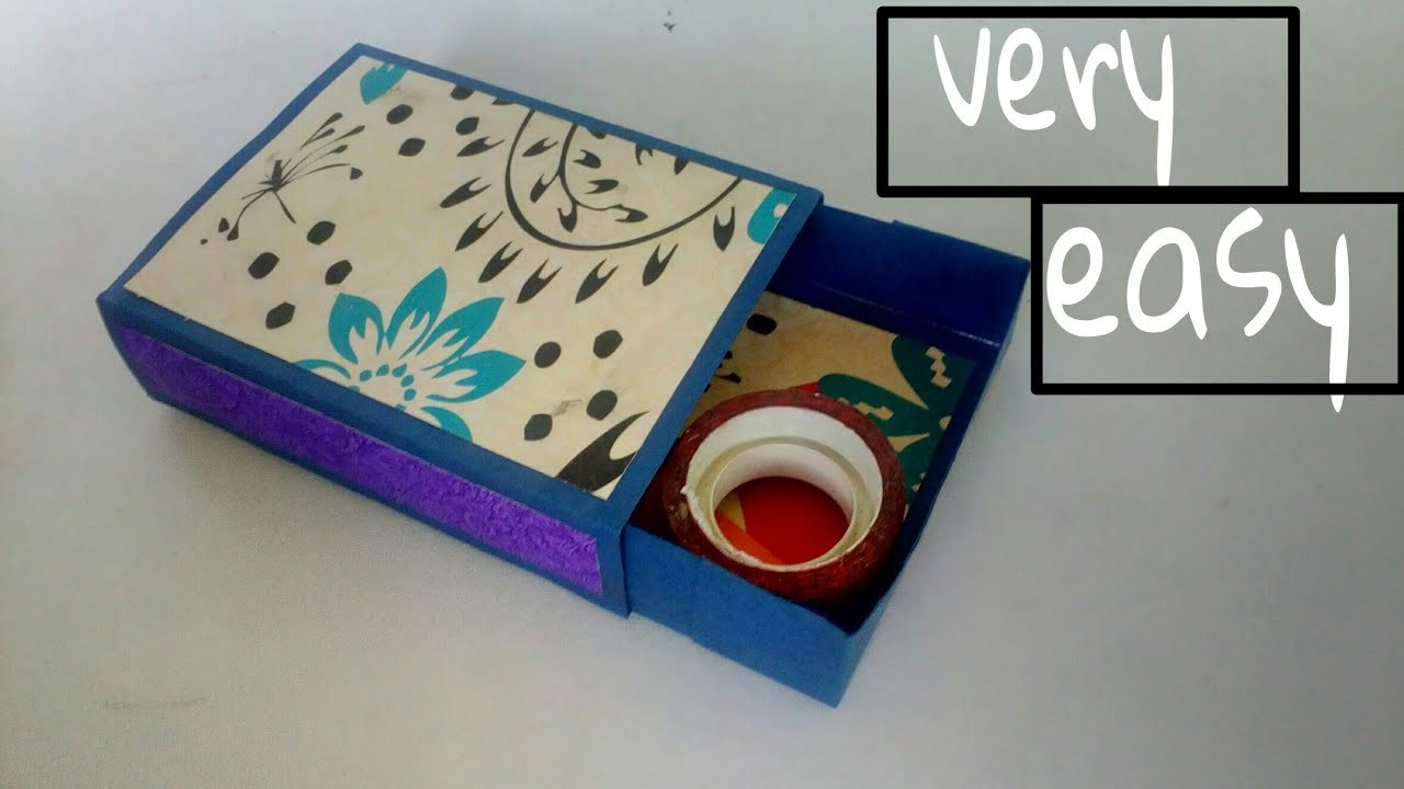 How To Make Rectangular Drawer Box Match Box Paper Craft Diy Gift Box