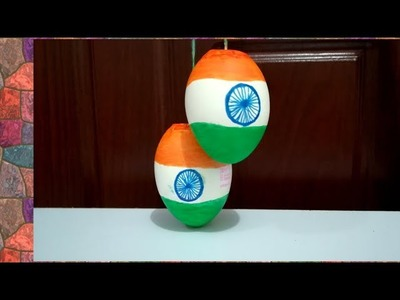 How To Reuse Eggshells.   Independents Day Decoration - Malayalam Craft