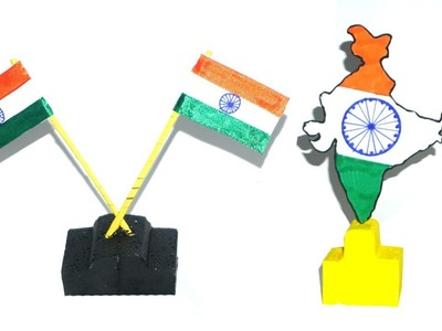 Independence day special craft |  How To Make A Indian Flag & Indian Map Craft work | Basic Craft