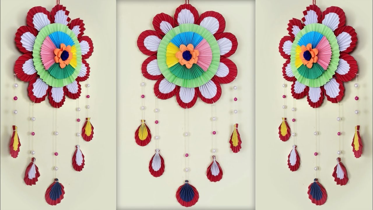 Latest Paper Craft Idea Diy Paper Wall Decor Showpiece Making At Home