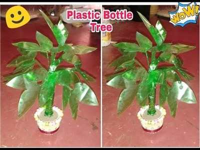 Make a beautiful Tree with using plastic bottle. Plastic bottle reuse craft idea