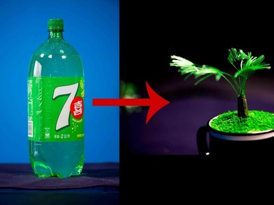 Make a plastic bottle craft idea | plastic bottle to be a cup art tree (diy 2018 )