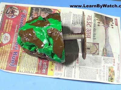 Make Govardhan Parvat using Newspaper (DIY) | Learn By watch craft