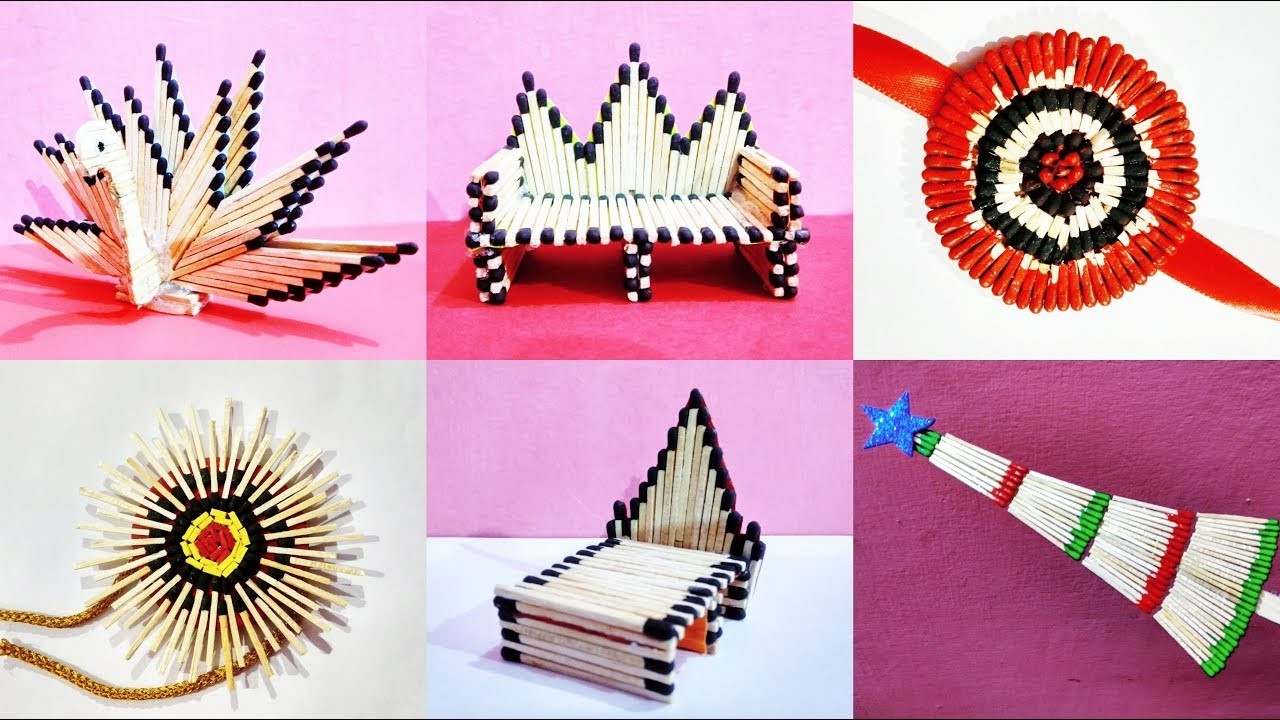 Matchstick Art And Craft Making Ideas 6 Easy Art And Craft Ideas