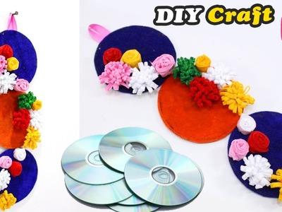 Old CD.DVD craft idea   Easy DIY Craft   Wall Showpiece for Room Decor