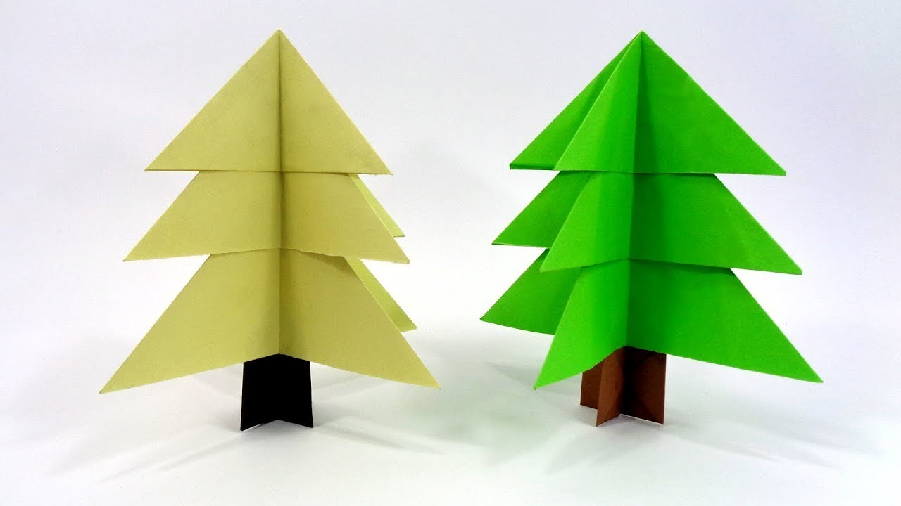 Paper Christmas Tree Making Idea   DIY Easy Christmas Craft