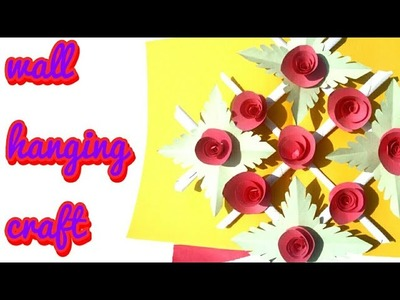 Paper Flower Wall Hanging Craft | EASY and Simple Wall. home Decoration Ideas - Paper art & craft