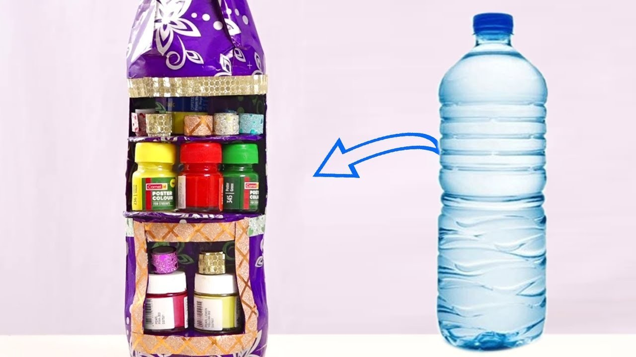 Plastic Bottle Craft Ideas Easy Method Water Bottle Craft Idea