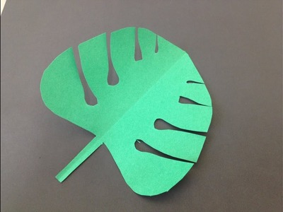 SIMPLE PAPER MONSTERA LEAF(in less than one minute)|EASY DIY CRAFT TUTORIAL