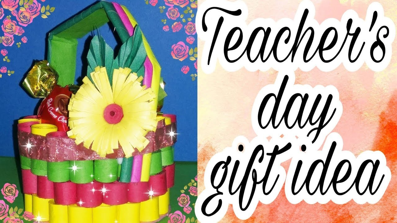 Teachers Day Special Gift Ideas Quiling Paper Basket Art Craft