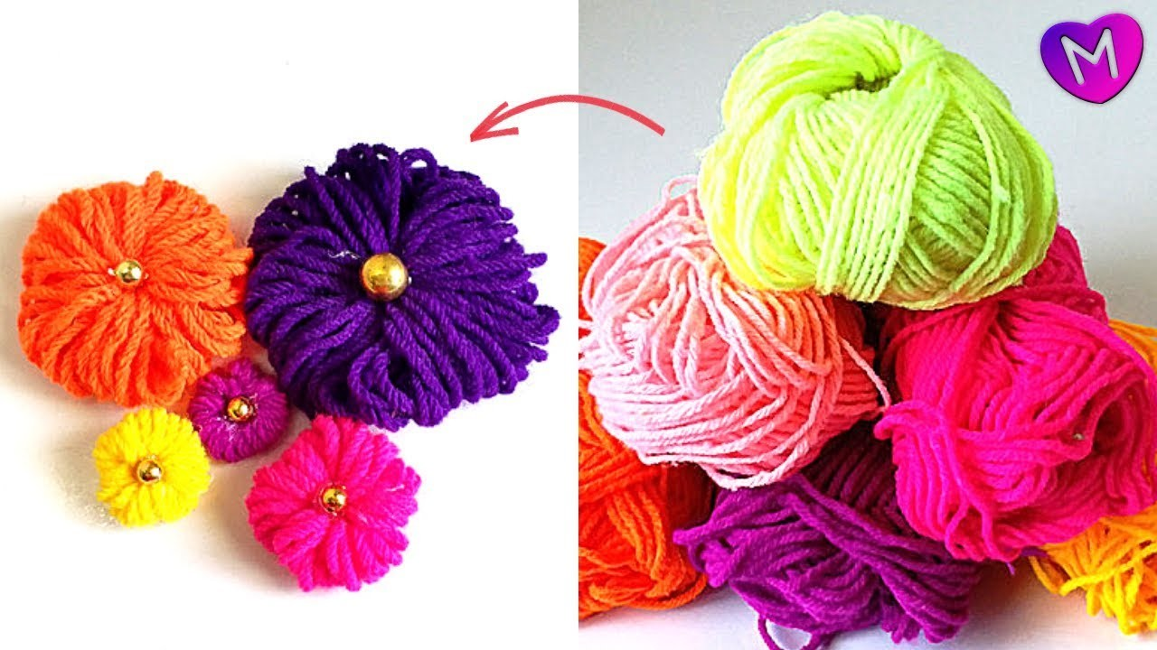 Woolen Thread Craft Handmade Woolen Flower Making Diy Woolen