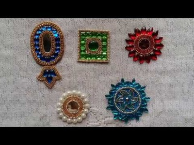 118. How to make Patches for Saree, Blouse, Latkan | 5 DIY(do it yourself) Buti for Rakhi making