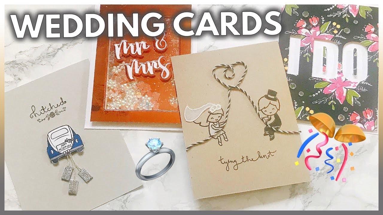4 Handmade WEDDING Card Ideas That Couples Will Love | DIY Engagement Card