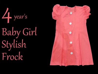 4year's baby girl stylish frock cutting tutorial || diy baby frock
