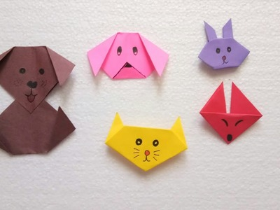 5 Best and easy paper animal tutorial for kids. Easy paper craft. Best out of waste