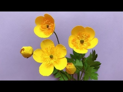 ABC TV   How To Make Buttercups Paper Flower With Shape Punch - Craft Tutorial