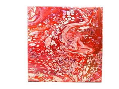 American Crafts Color Pour Canvas Polly's Paper Studio Tutorial Pour Art DIY