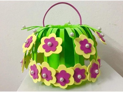 Awesome ideas to make a Hanging Flower Basket with Foam| Diy Crafts